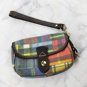 Dooney & Bourke|Plaid Wristlet